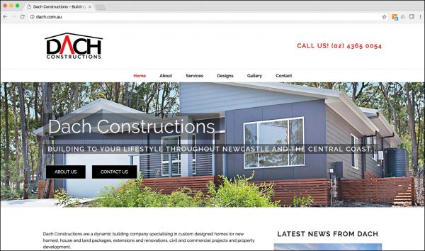 Dach Constructions – New website launch